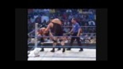 Brock Lesnar Vs Big Show - Ring Collapse (hd)