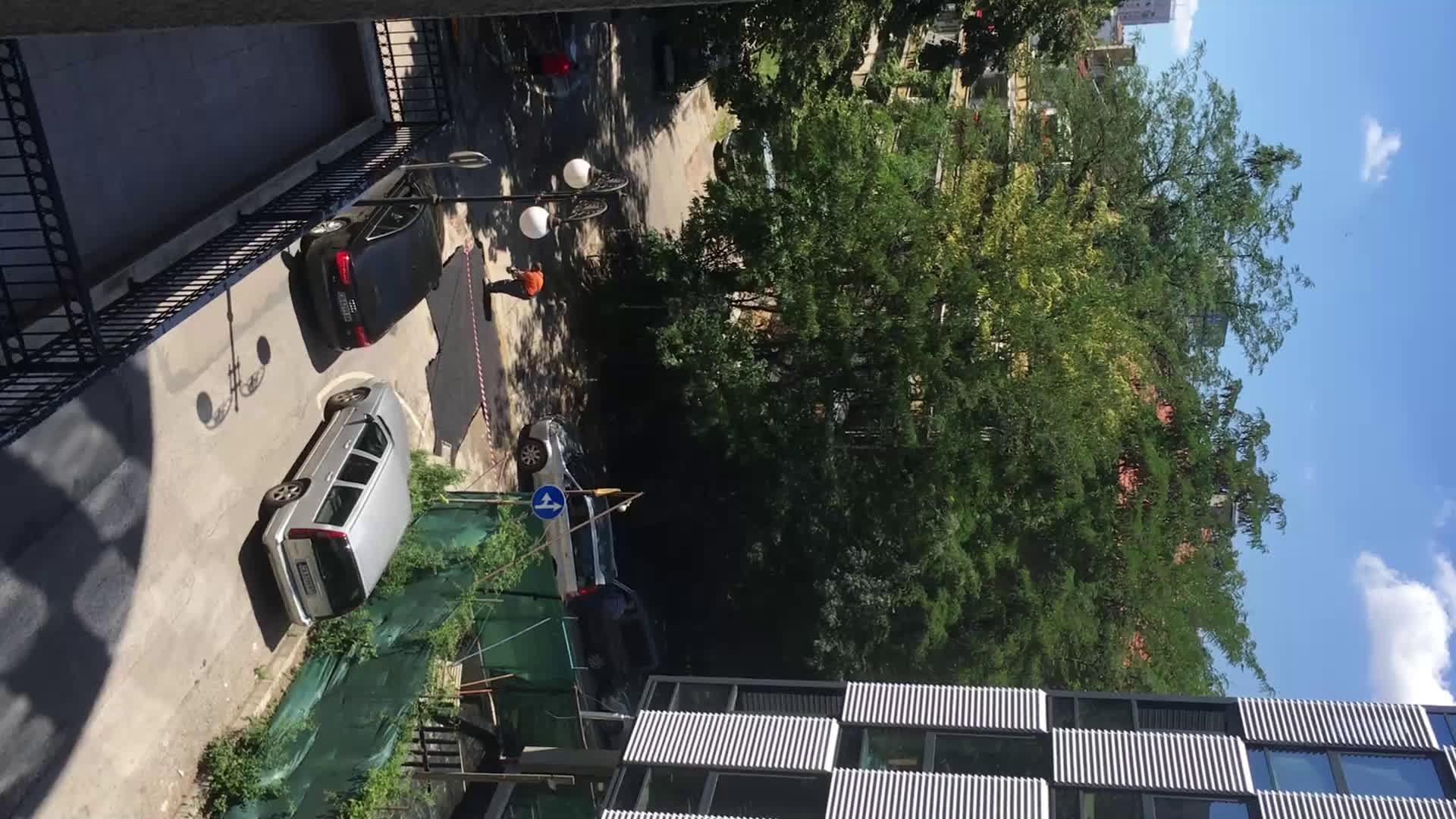 Некачествен ремонт на улична настилка