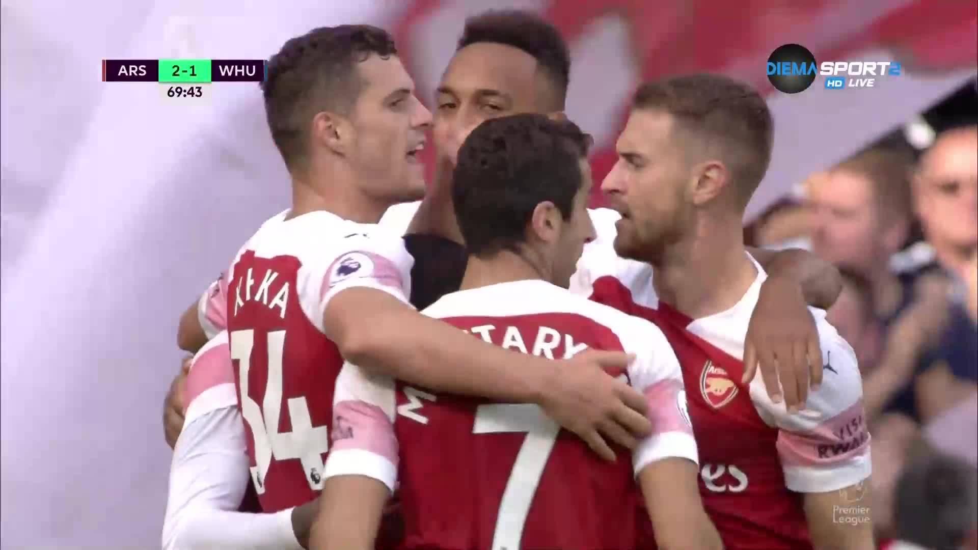 Арсенал поведе за пръв път при Емери след голям късмет
