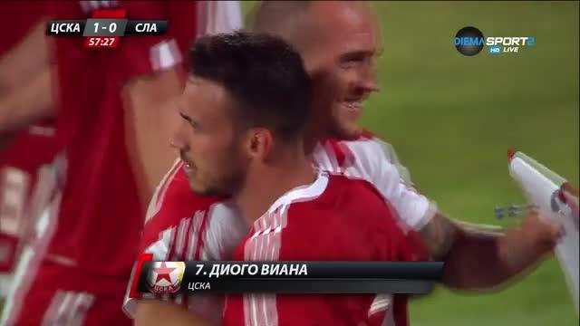 Първият гол в Първа лига - за ЦСКА и Диого Виана