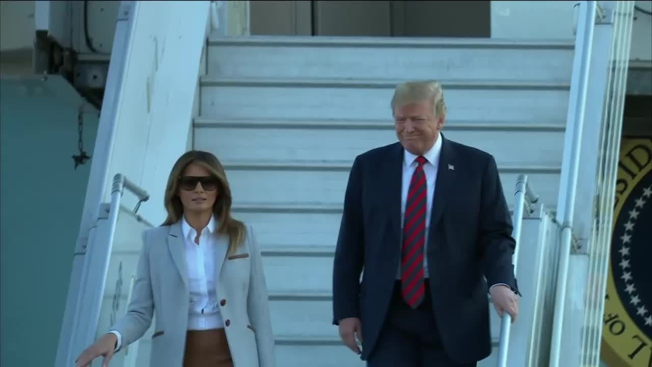 Finland: US President Trump arrives in Helsinki for Summit with Putin