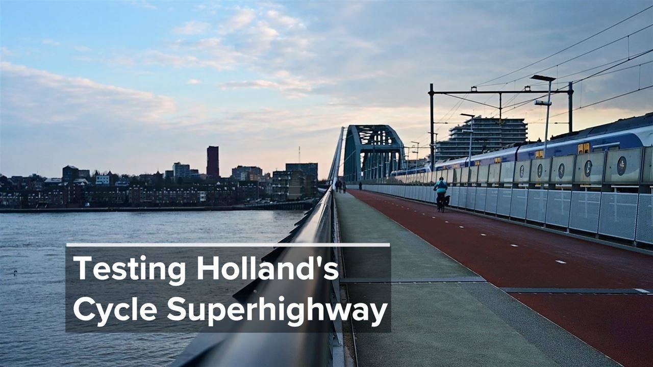 We Tested Cool Transport: Holland's smart bike path