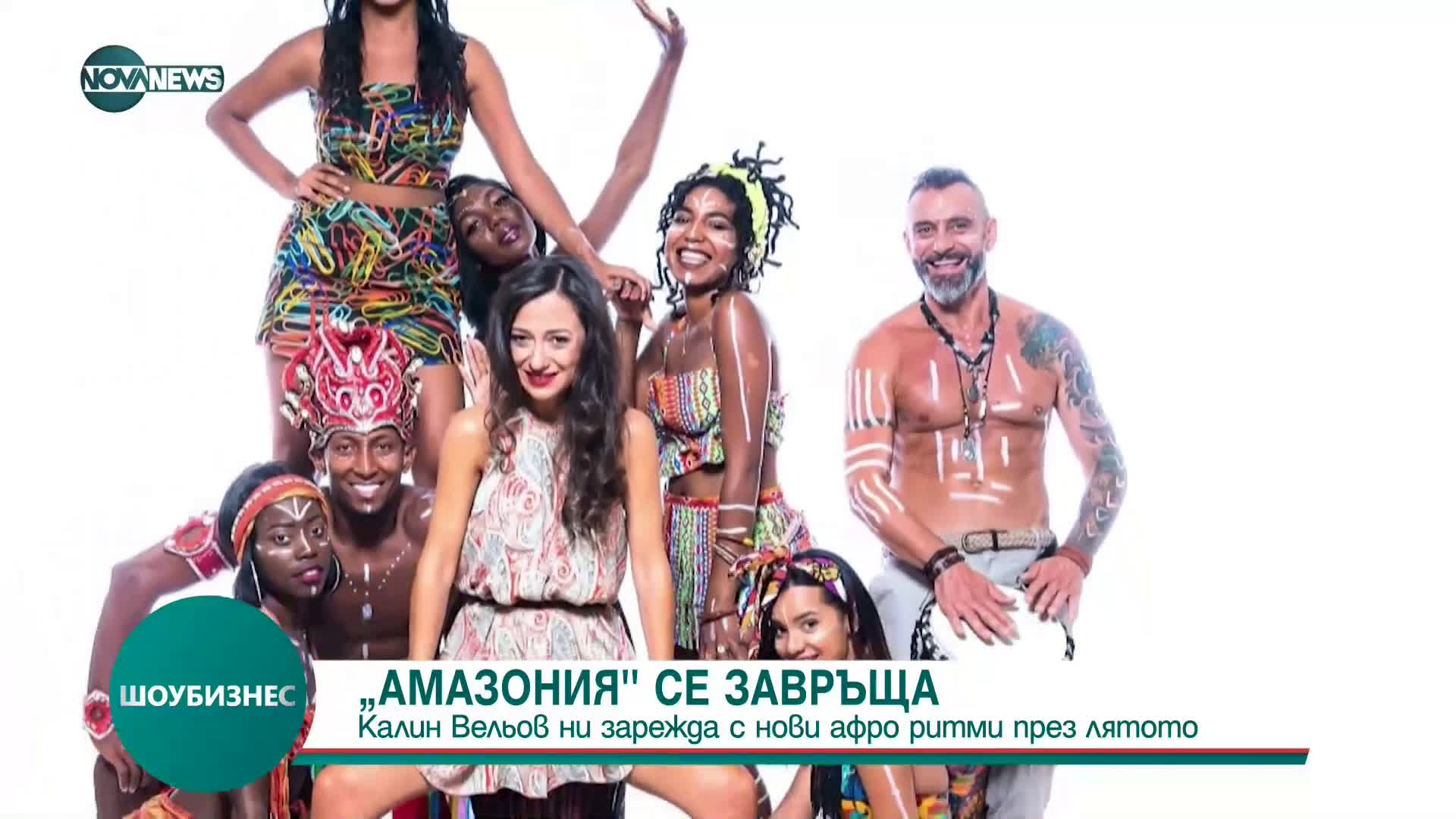 """Калин Вельов и проект """"Амазония"""" представят новия си афро спектакъл"""