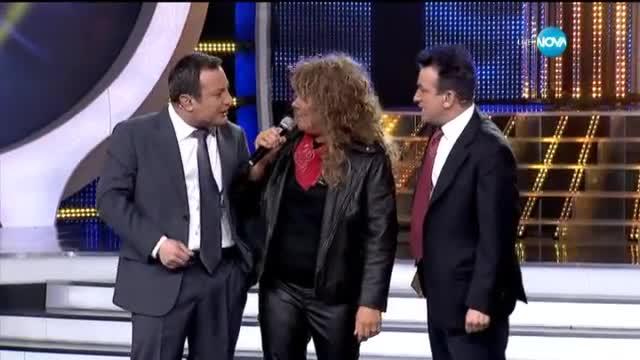 Албена Михова като Joey Tempest от Europe - Като две капки вода - 06.04.2015 г.
