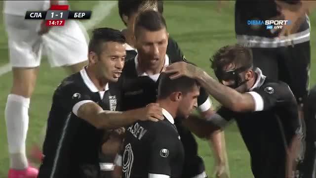 Александър Василев се разписа с красив гол срещу Славия