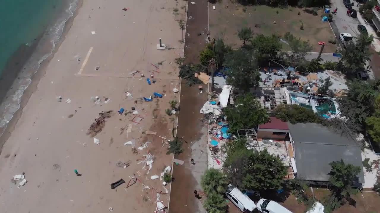 Гърция: Дрон показва разрушенията след голямата буря