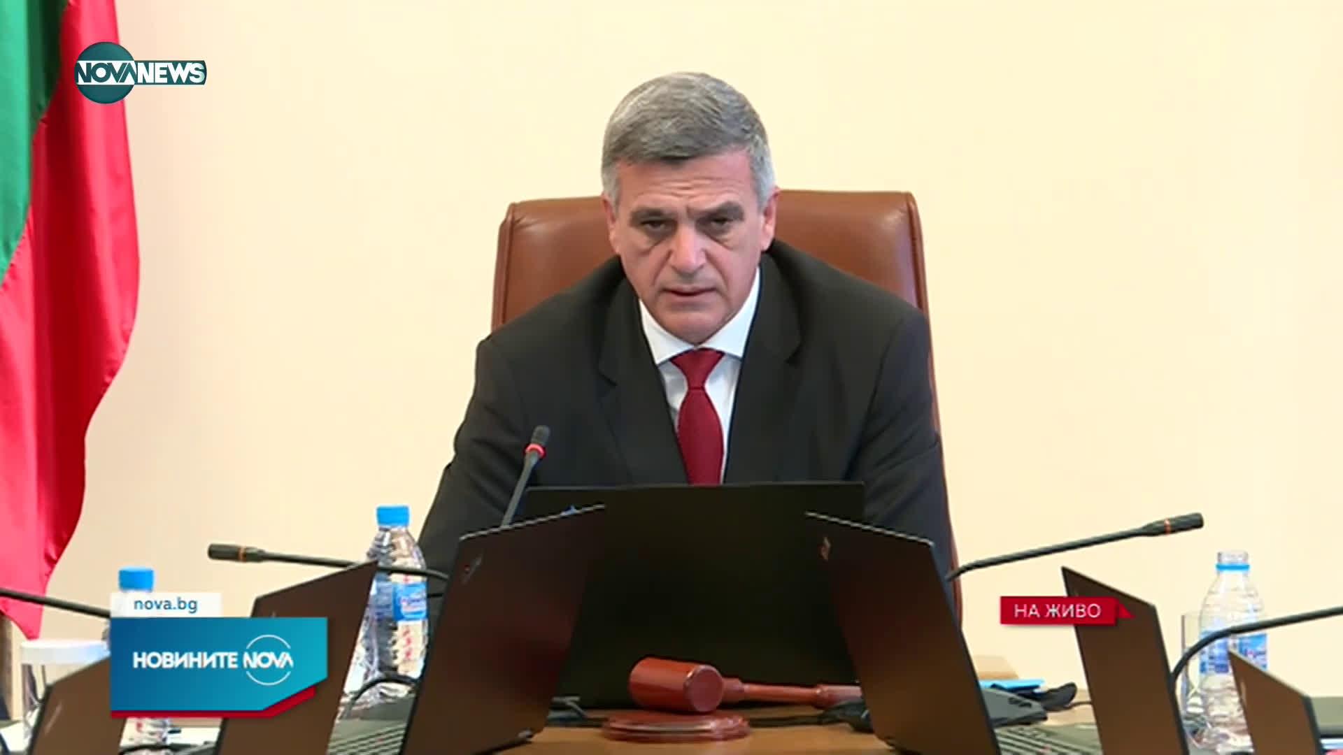 Изявление на премиера Янев преди заседание на МС