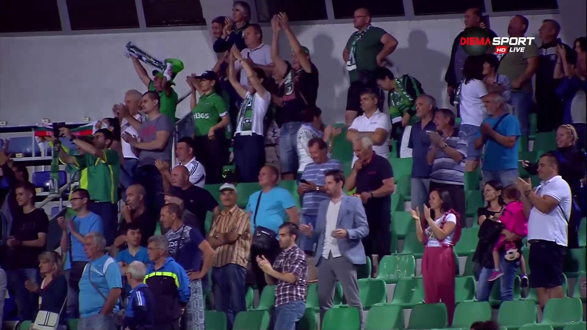 Награждаването на Лудогорец със Суперкупата на България