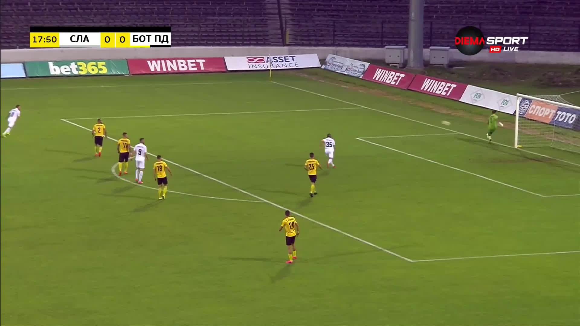 Славия - Ботев Пловдив 1:0 /първо полувреме/