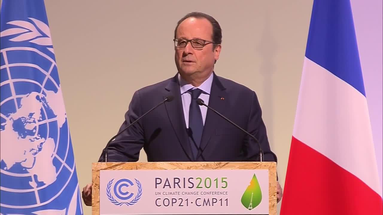 Оланд: Климатичните промени са по-голям приоритет от войната с тероризма