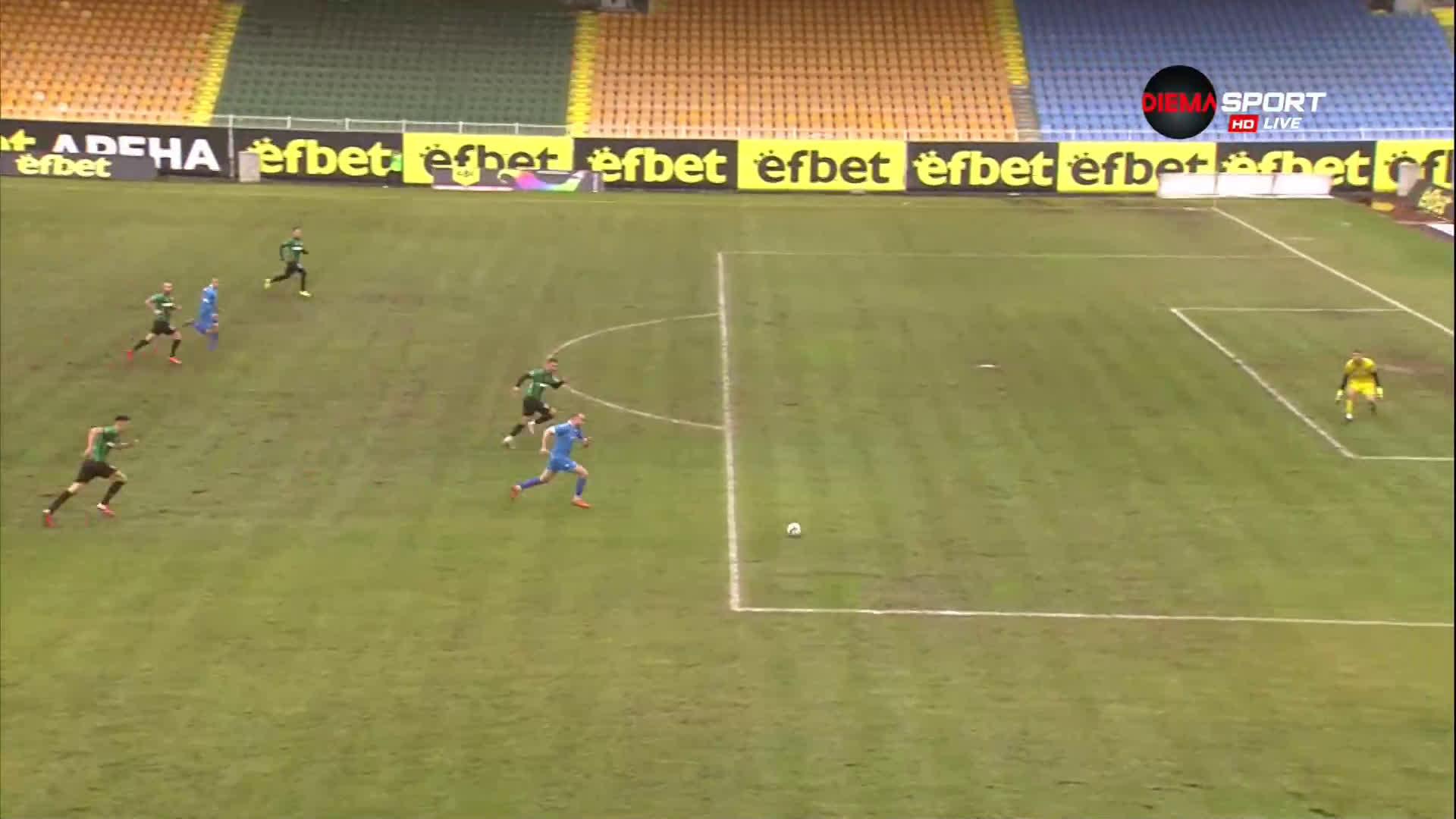 Христов вкара и трети гол за Спортист преди почивката