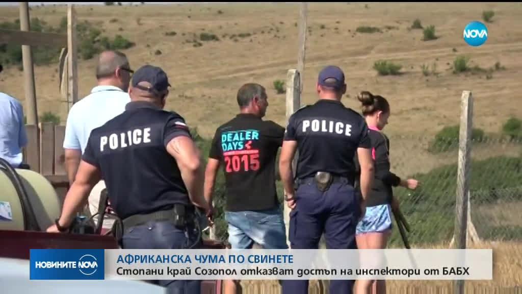 Стопани на прасета в сблъсък със здравни инспектори край Созопол