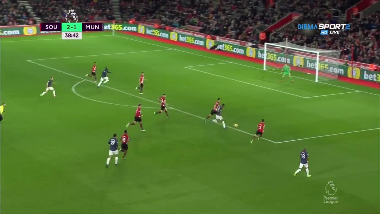 Саутхептън - Манчестър Юнайтед 2:2 /първо полувреме/