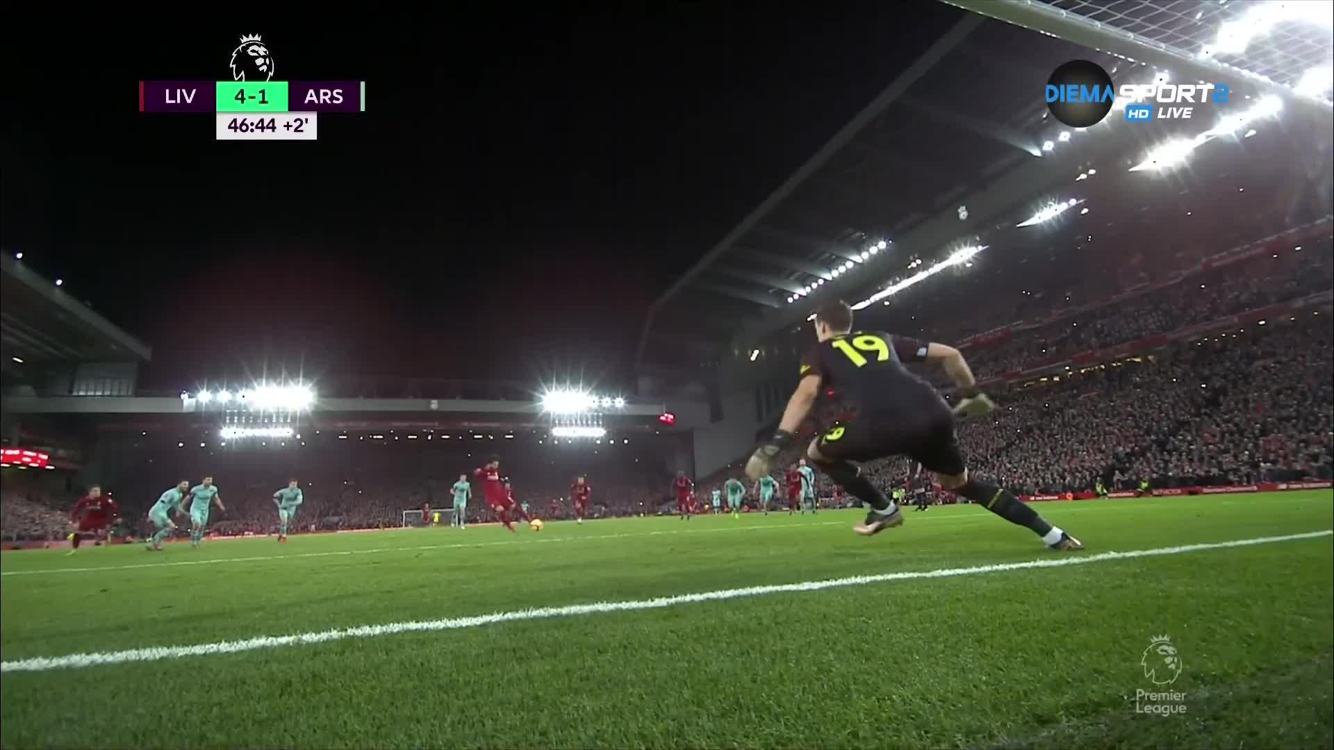 Салах се включи в головата фиеста за Ливърпул