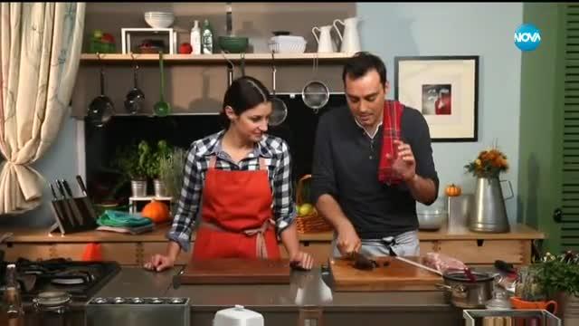 Руло от свинско с черен ориз и сушени череши - Бон апети (29.11.2017)
