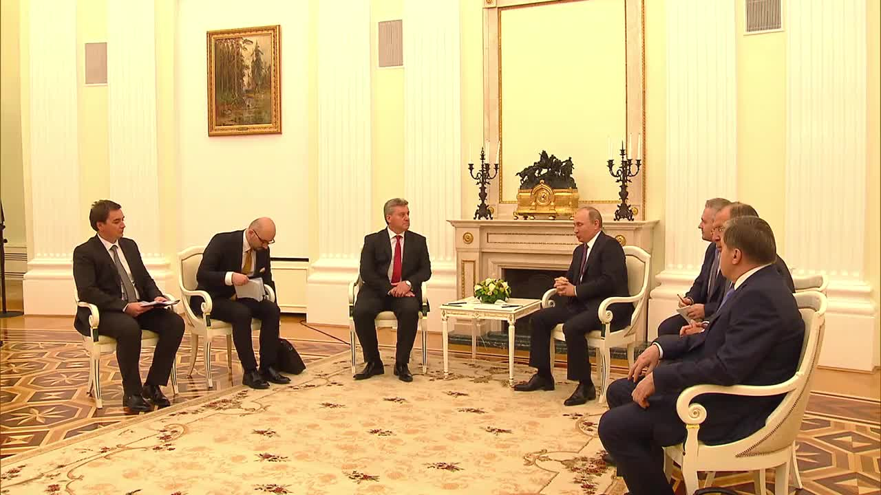 Russia: Putin and Macedonian President Ivanov discuss relations and trade in Moscow