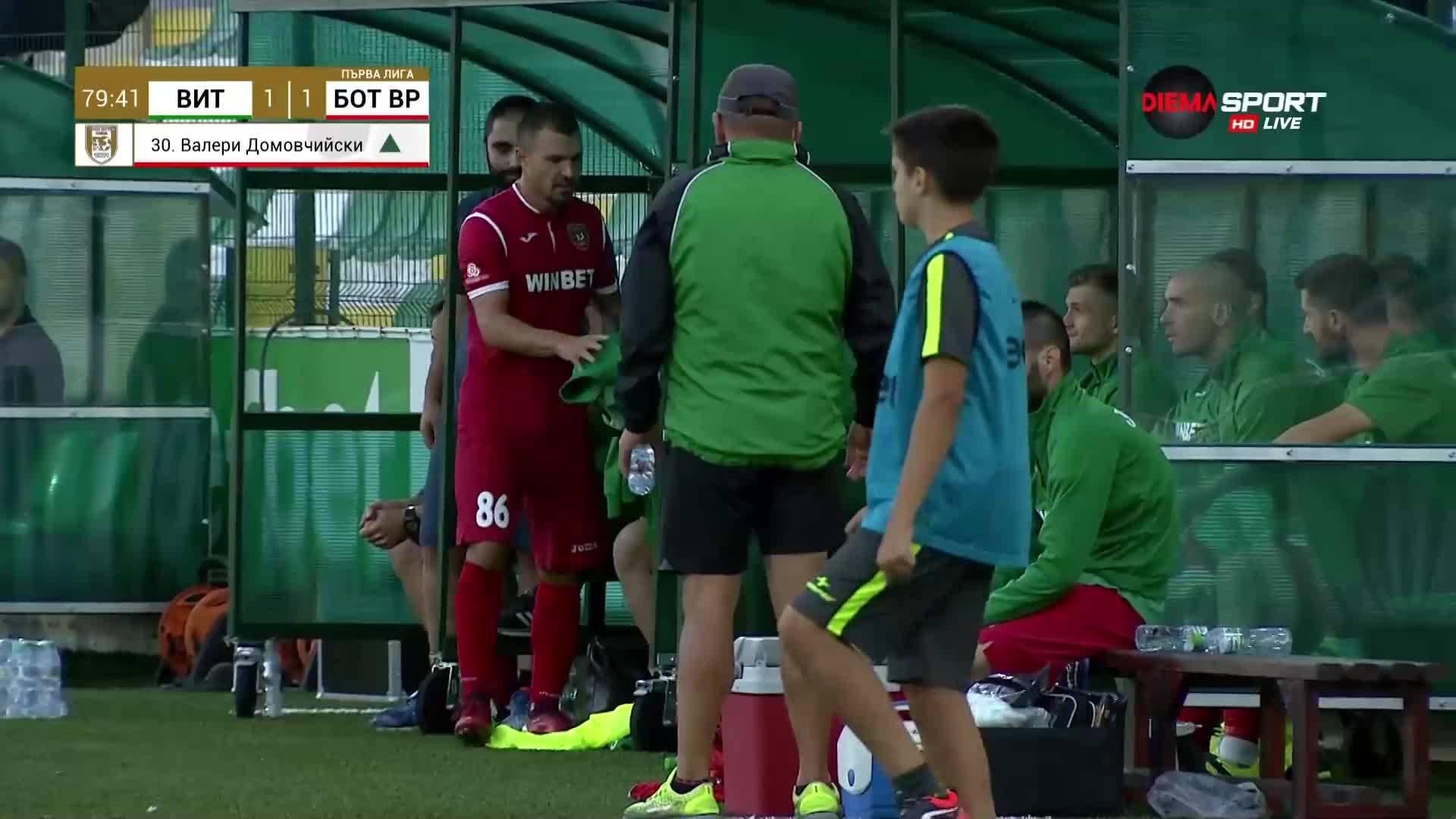 80 минути, гол и овации за дебют на Божинов в Ботев Вр