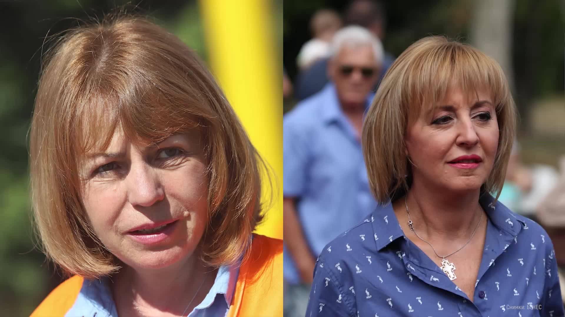 Фандъкова и Манолова – двете първи дами на изборите