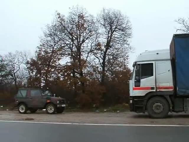 маскирани полицаи похитиха камион