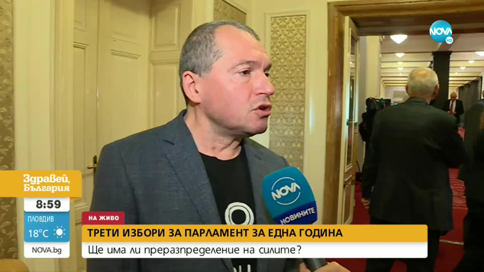 Тошко Йорданов: Ако в следващия парламент няма лицемерие, би трябвало да има редовен кабинет