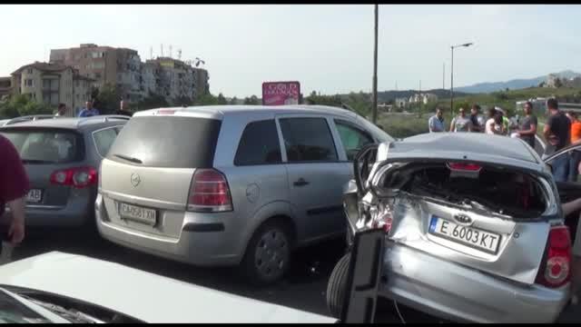 Верижна катастрофа стана край Благоевград