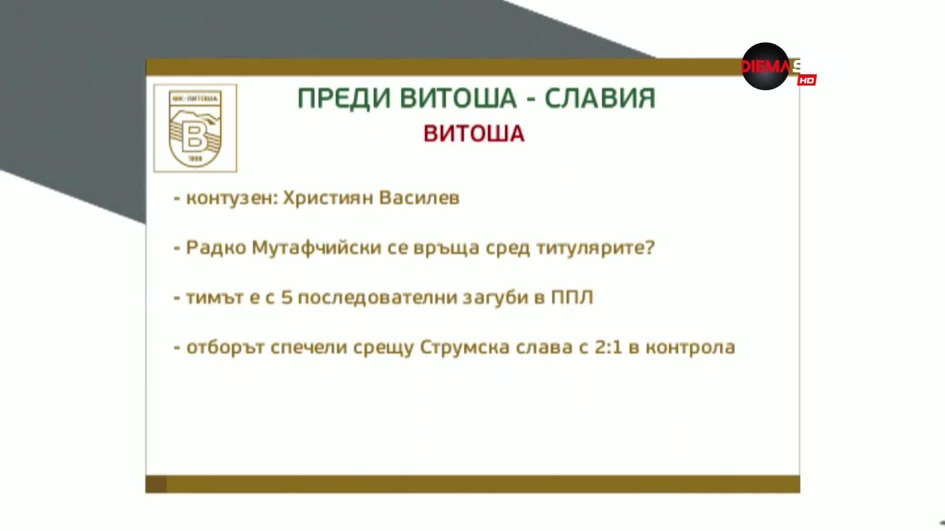 Първа лига се завръща с Витоша - Славия