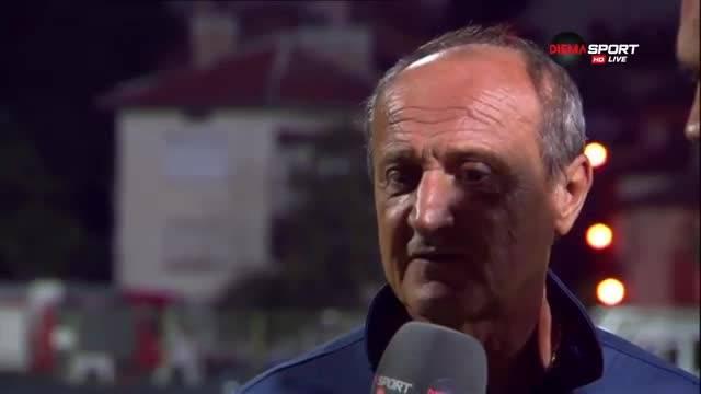 Мнението на Делио Роси след победата над Пирин