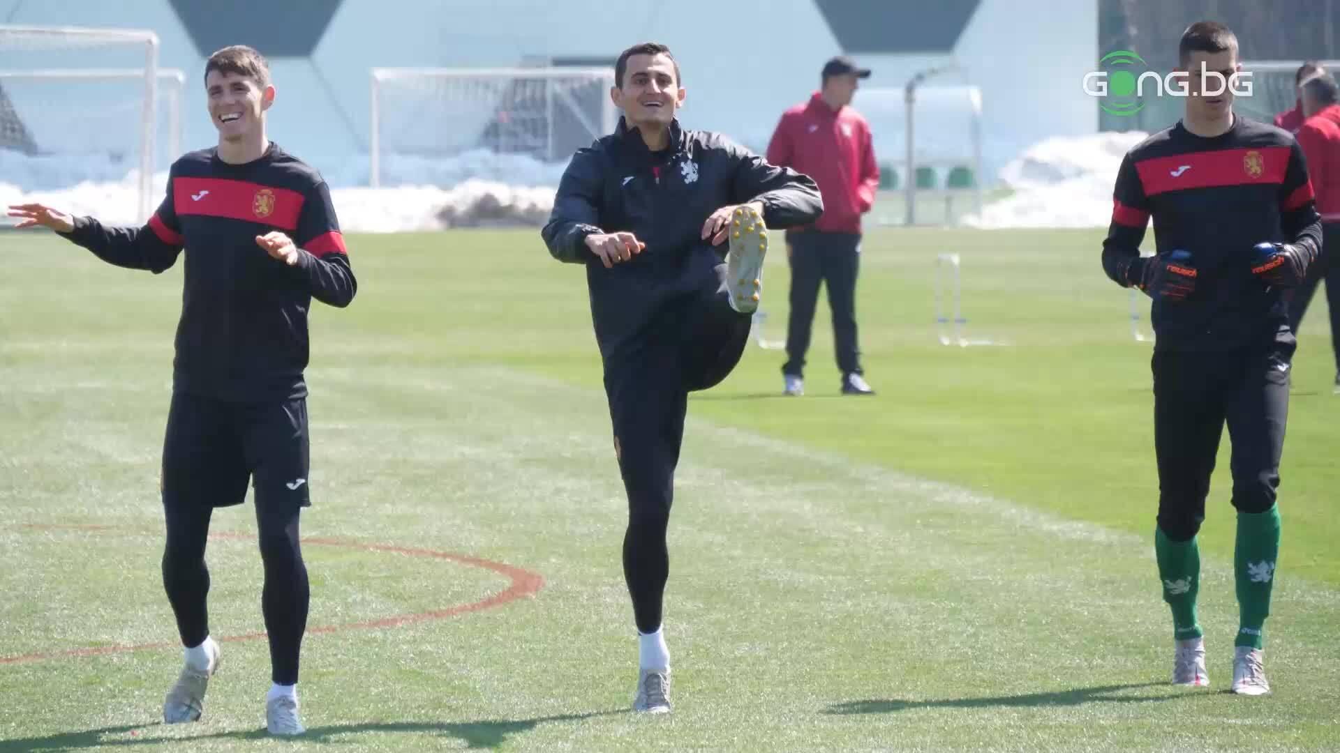 България тренира преди утрешния мач с Италия