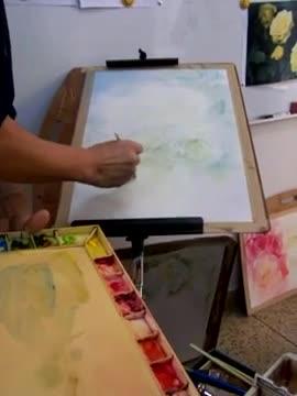 Рисуване на бели рози-демонстрация от Adisorn Pornsirikarn (акварел) част 1/2