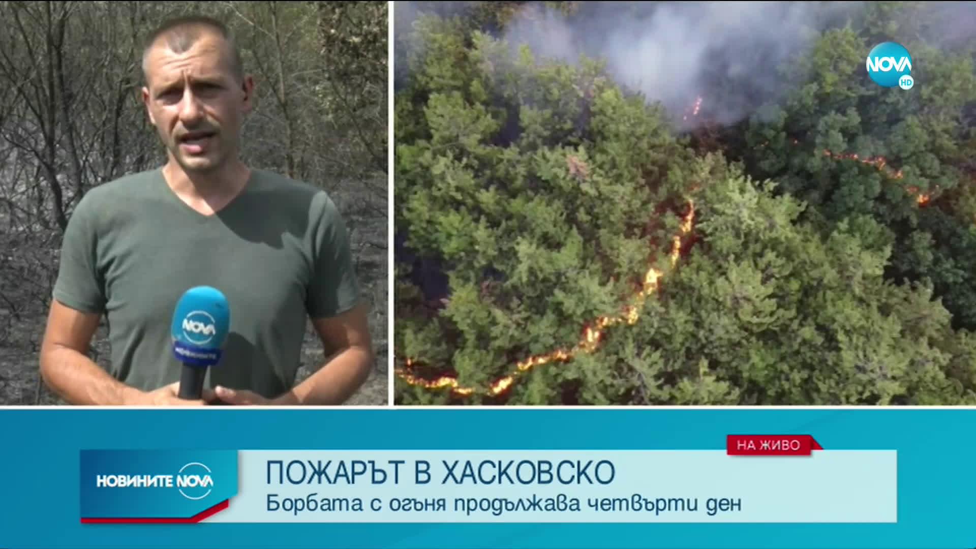 Ситуацията с пожара в Хасковско е под контрол