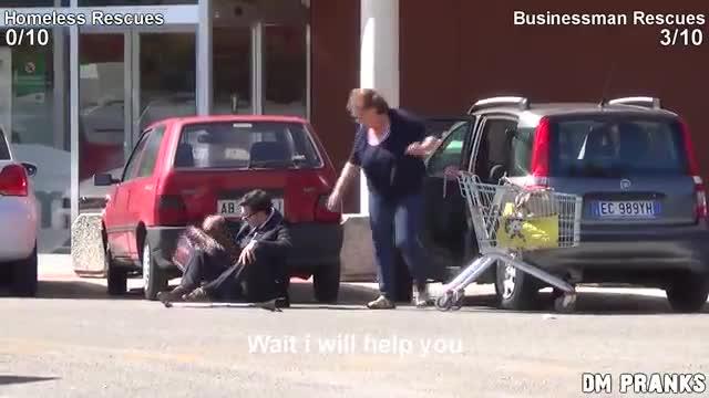 На кого ще помогнете: Бездомник или Бизнесмен