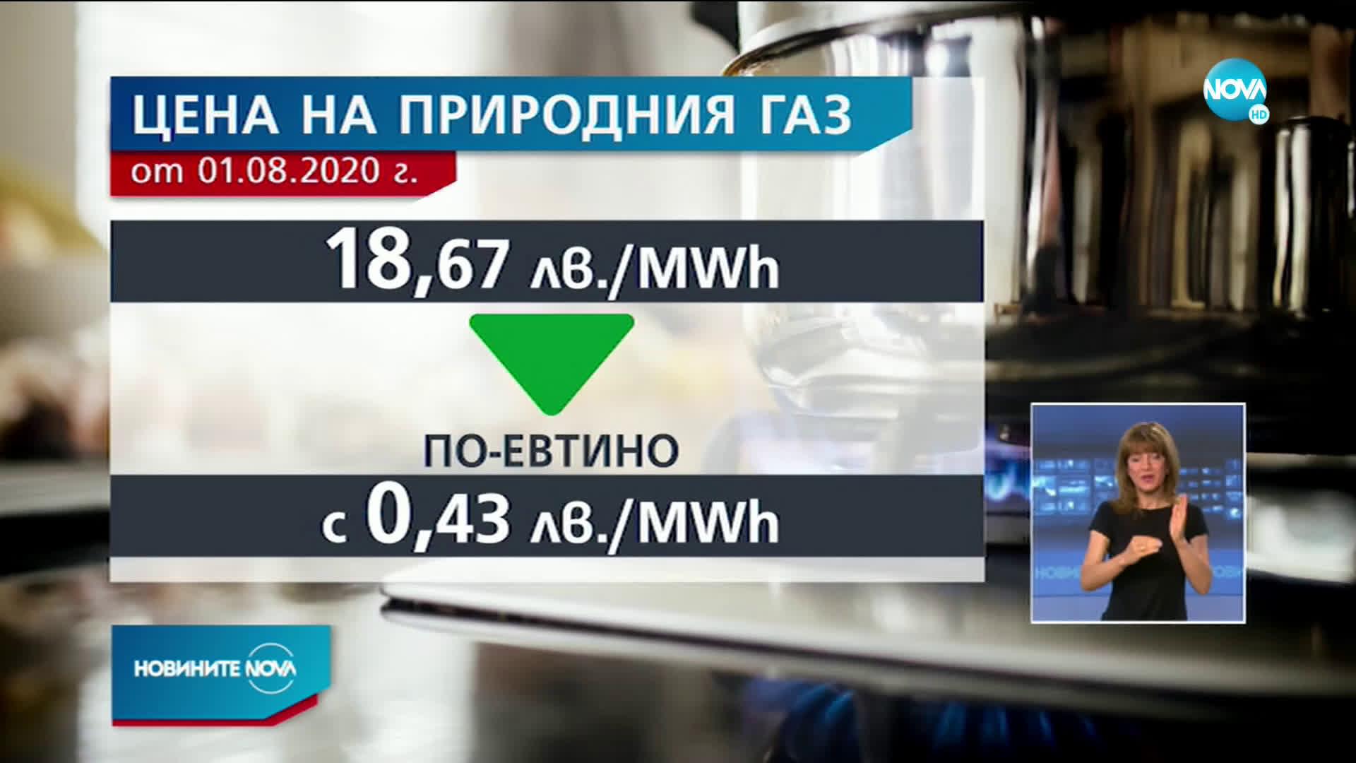 КЕВР утвърди нова по-ниска цена на газа за август