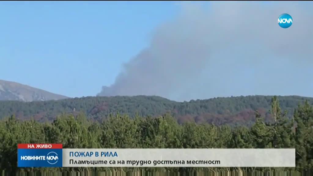 Пожар в Рила