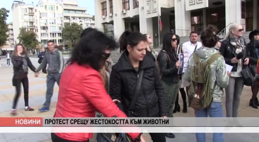 Протест срещу жестокостта към животни в Бургас
