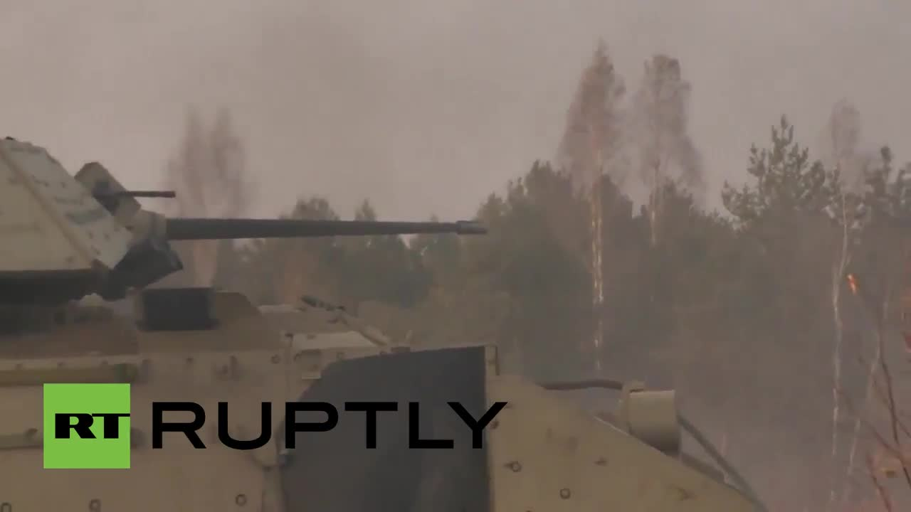Lithuania: US armour flaunts its firepower in live-fire drills