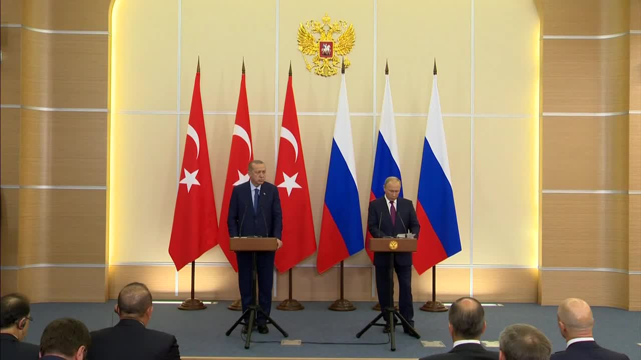Russia: Putin and Erdogan praise cooperation and use of national currencies in trade