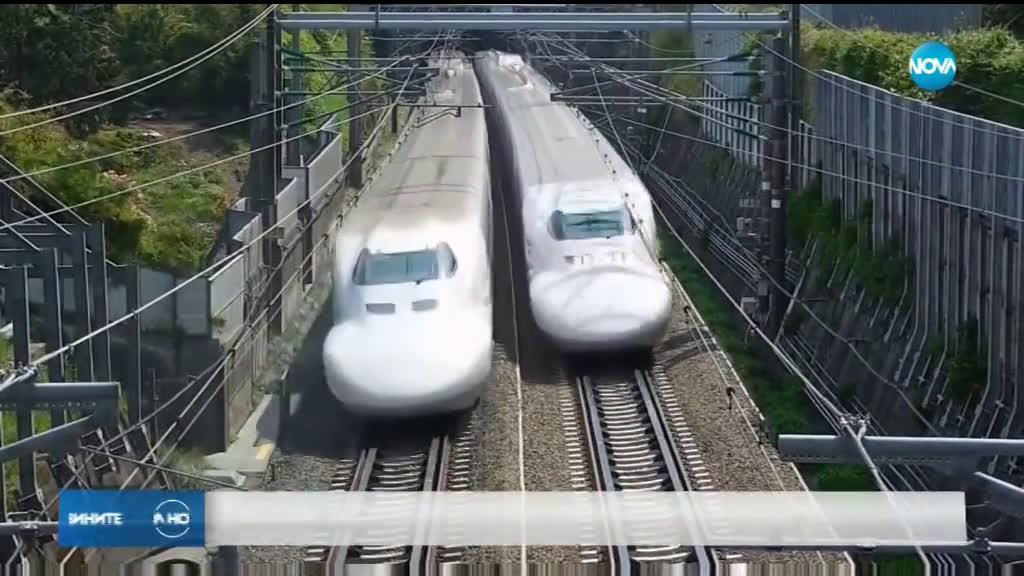 Гол охлюв спря влаковете в Япония