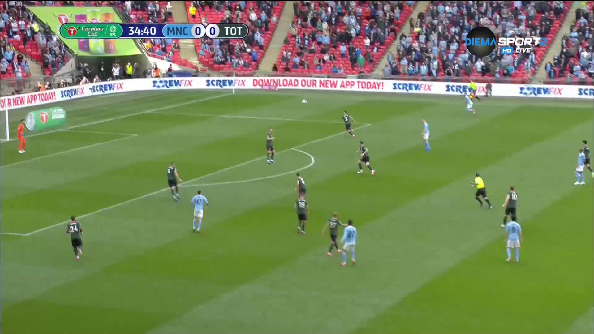 Манчестър Сити - Тотнъм Хотспър 0:0 /първо полувреме/
