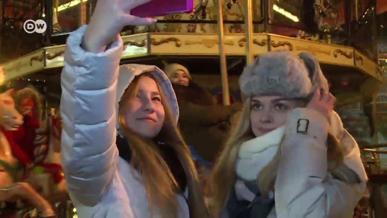 Красивото лице на зимна Москва