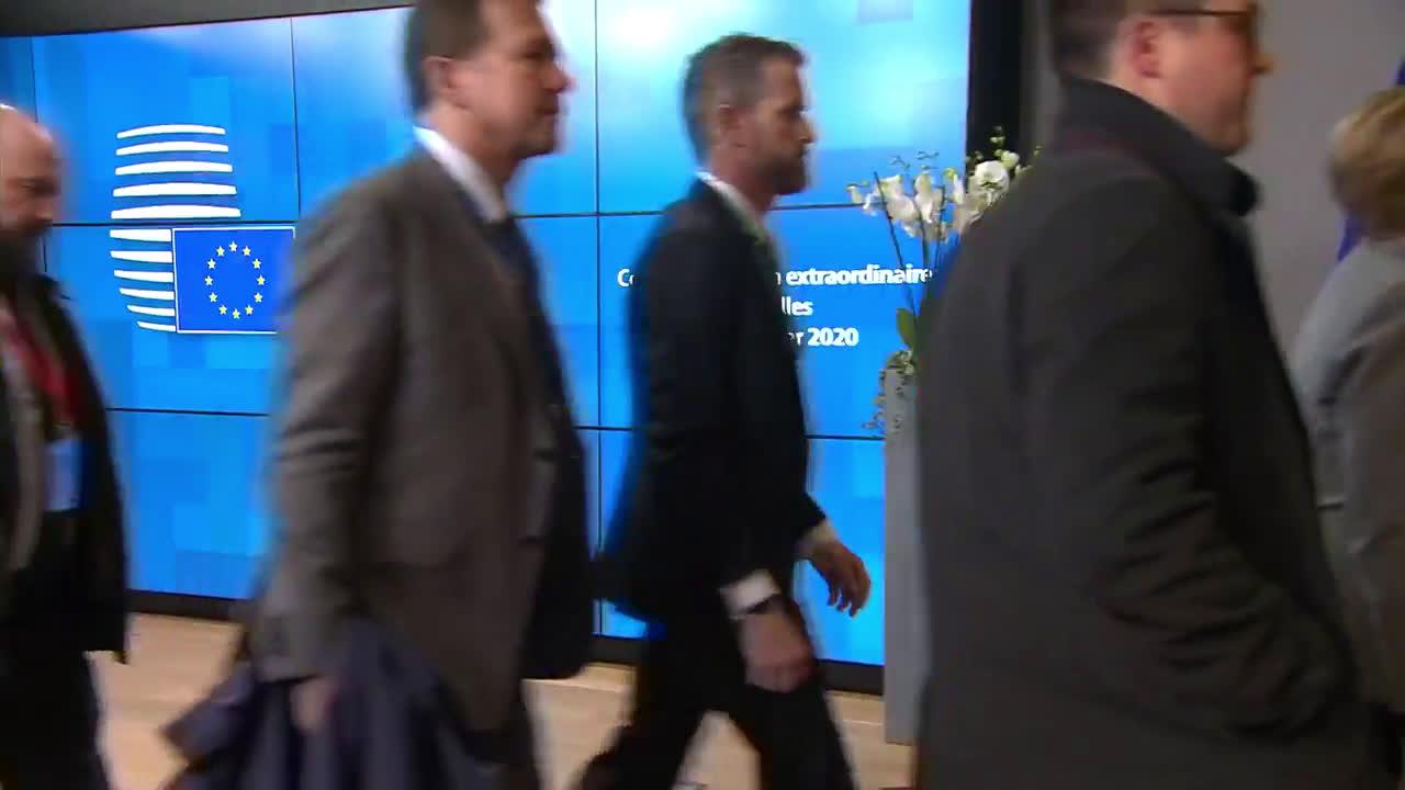Belgium: Macron, Merkel arrive for new round of talks over EU budget deal