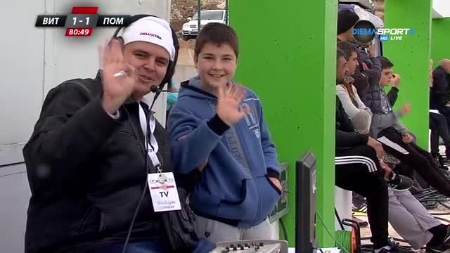 Малък фен се опита да разсее Диан Станчев в двубоя между Витоша и Поморие