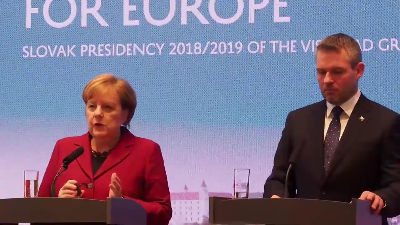 Slovakia: Merkel responds to Nord Stream 2 criticism at Visegrad summit