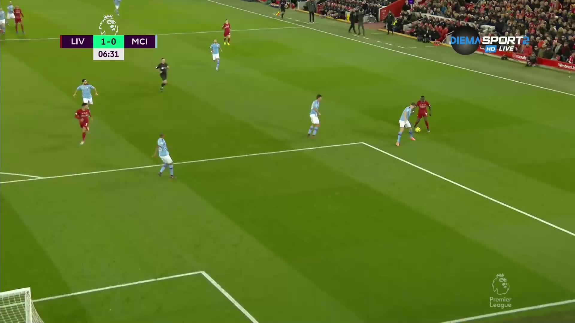 Ливърпул бързо, бързо поведе на Сити след страхотен гол на Фабиньо