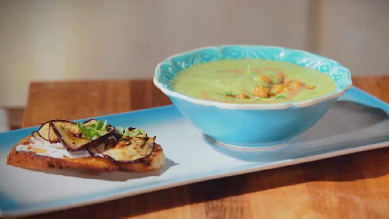 Среща в кухнята | Супа с тахан и патладжани