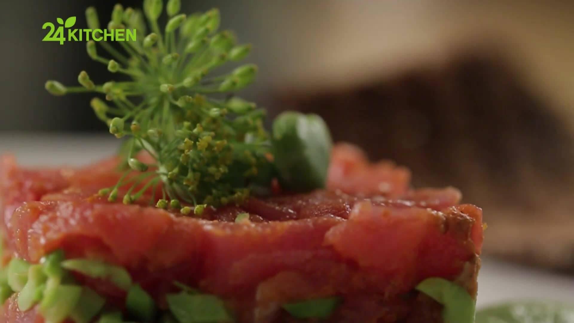 Давид Скоко | Тартар от риба тон със сушени домати и бакла
