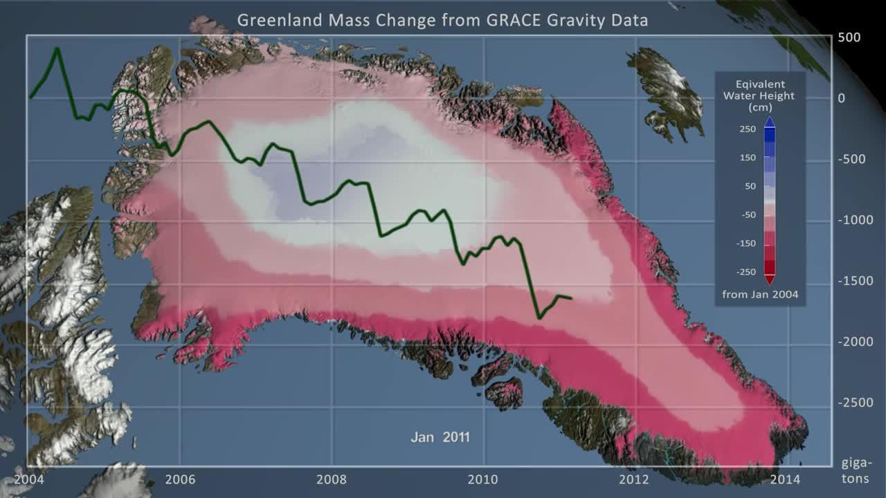 Топенето на леда в Гренландия
