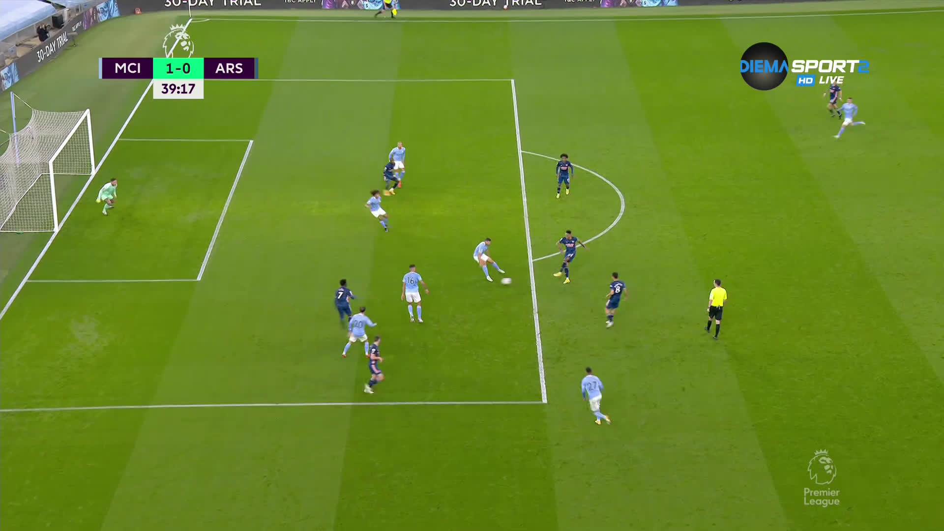 Манчестър Сити - Арсенал 1:0 /първо полувреме/