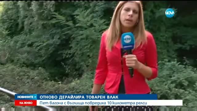 Пет вагона от влак дерайлираха в Софийско
