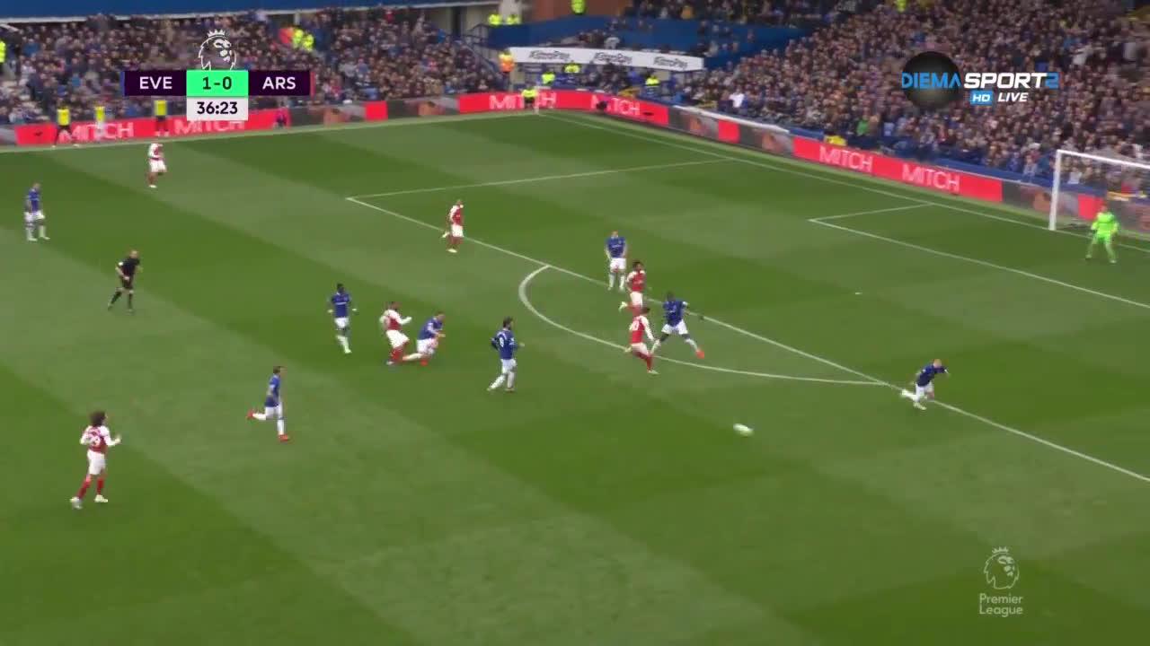 Евертън - Арсенал 1:0 /първо полувреме/