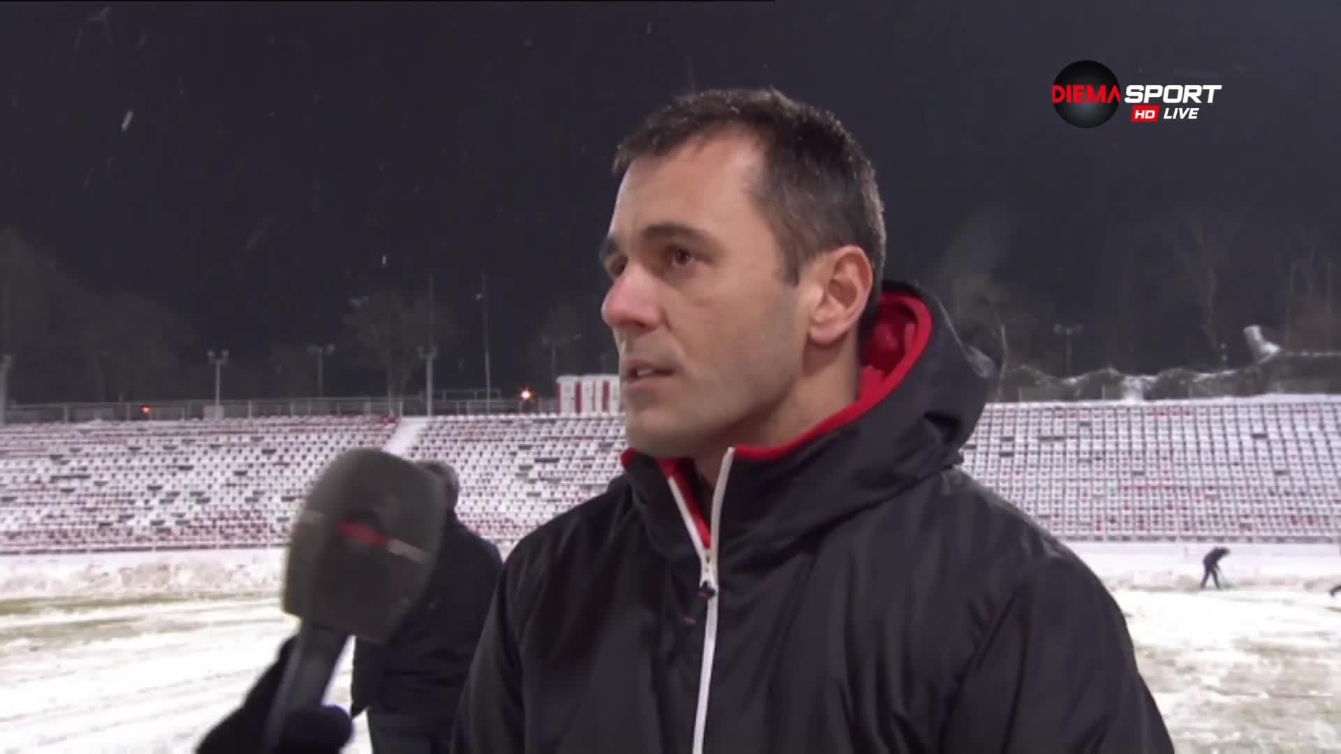 Драганов: Мач ще има, теренът утре ще е по-лош